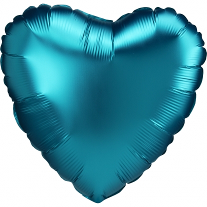 """Folinis balionas """"Vandenyno spalvos širdis"""", matinis (43 cm)"""