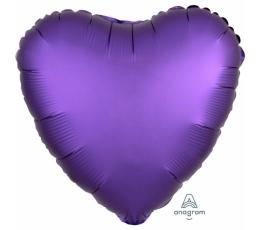 """Folinis balionas """"Violetinė širdis"""", matinis (43 cm)"""