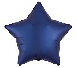 Folinis balionas-žvaigždė, tamsiai mėlynas (43 cm)