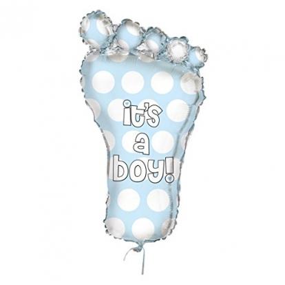 """Folinis balionas """"Žydra pėdutė"""" (78 cm)"""