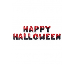 """Folinių balionų rinkinys """"Happy Halloween"""" , raudonai juodas (40 cm)"""