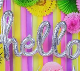 """Folinių balionų rinkinys """"Hello"""", holografinis 1"""