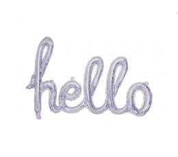 """Folinių balionų rinkinys """"Hello"""", holografinis"""