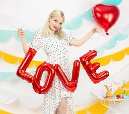 """Folinių balionų rinkinys """"Love"""", raudonas (140x35 cm) 1"""