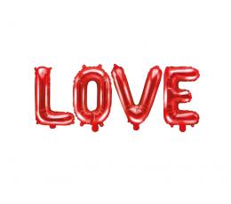 """Folinių balionų rinkinys """"Love"""", raudonas (140x35 cm)"""
