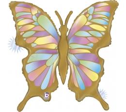 "Forminis balionas ""Auksinis drugelis"", matinis (84 cm)"