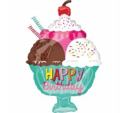 """Forminis balionas """"Ice Cream Sundae HBD"""" (38x58 cm)"""