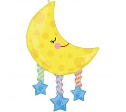 """Forminis balionas """"Mėnulis tarp žvaigždžių"""" (63x96cm)"""