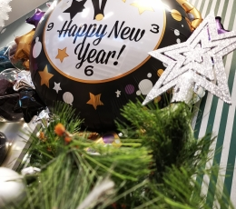 """Forminis balionas """"Naujųjų Metų laikrodis"""" (76x88 cm) 1"""