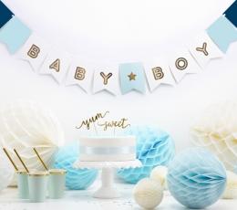 "Girlianda ""Baby Boy"", melsvai auksinė (1,6 m) 1"