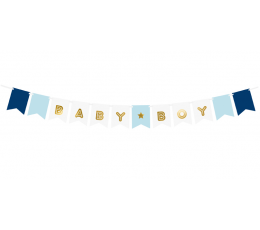"Girlianda ""Baby Boy"", melsvai auksinė (1,6 m)"