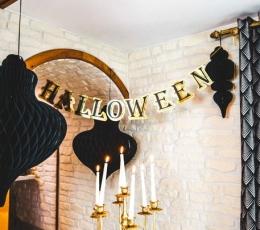 """Girlianda """"Halloween"""", auksinė-juoda (13,5cmx 3m) 1"""