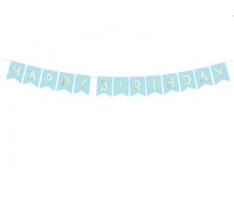 """Girlianda """"Happy Birthday"""", melsva-auksinė (1,75 m)"""