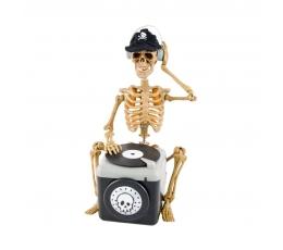 """Interaktyvi dekoracija  """"Skeletas DJ"""" (25x13 cm)"""