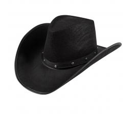 Juoda skrybėlė su metalo papuošimais