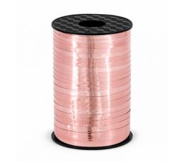 Plastikinė juostelė, rožinio aukso blizgi (5 mm/225 m)