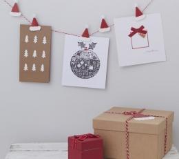 """Juostelė su mediniais segtukais """"Kalėdos"""" (3 m) 2"""