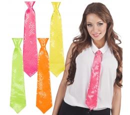 Kaklaraištis, gelsvas su aukso žvyneliais (40 cm)