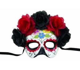 "Kaukė su gėlėmis ""Day of the Dead"""