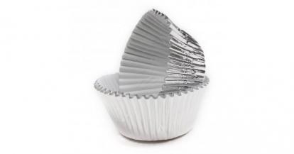 Keksiukų formelės, sidabrinės folinės (45 vnt.)