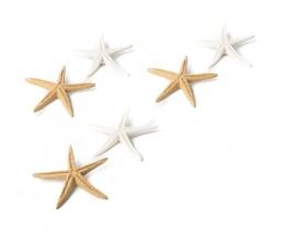 """Klijuojamos 3D dekoracijos """"Jūros žvaigždės"""" (6 vnt./ 6,5 cm)"""