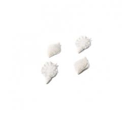 """Klijuojamos 3D dekoracijos """"Kriauklės"""" (4 vnt./ 7x4 cm)"""