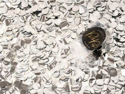 Konfeti patranka, sidabrinė stumiama