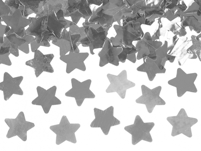 """Konfeti patranka """"Sidabro žvaigždės"""" (40 cm)"""