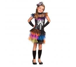 """Kostiumas """"Spalvotas skeletas"""" (7-9 m.)"""