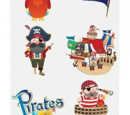 """Laikinos tatuiruotės """"Piratai""""  1"""