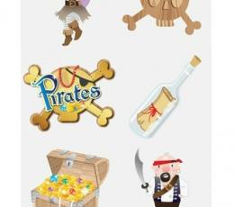 """Laikinos tatuiruotės """"Piratai""""  2"""