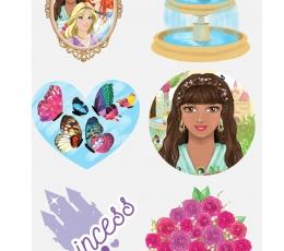 """Laikinos tatuiruotės """"Princesės""""(6 vnt.) 1"""