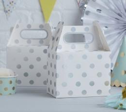 Lauktuvių dėžutės, baltai-sidabriniai taškuotos (5 vnt.) 1