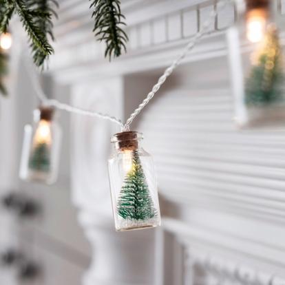 "LED girlianda ""Kalėdiniai buteliukai"" (2x4 cm x 110 cm)"