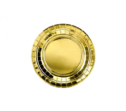 Lėkštutės, auksinės blizgios (6 vnt./18 cm)