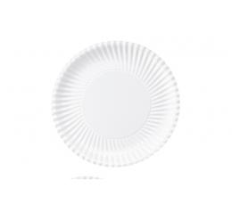 Lėkštutės, banguotos baltos (10 vnt./18 cm)