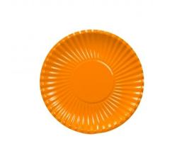 Lėkštutės, banguotos oranžinės (10 vnt./18 cm)