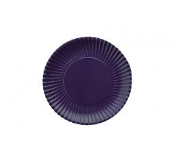 Lėkštutės, banguotos tamsiai mėlynos (10 vnt./18 cm)