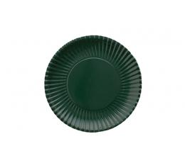 Lėkštutės, banguotos tamsiai žalios (10 vnt./18 cm)
