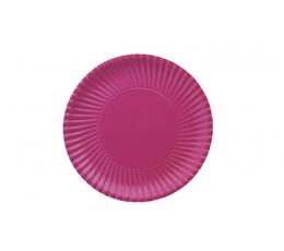 Lėkštutės, banguotos violetinės (10 vnt./18 cm)
