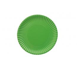 Lėkštutės, banguotos žalios (10 vnt./18 cm)