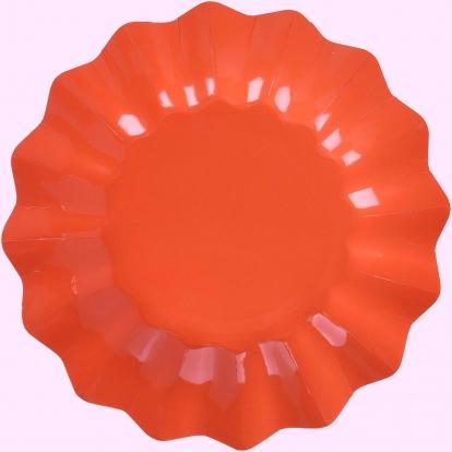 Lėkštutės-gėlės, skaisčiai raudonos (8 vnt./21 cm)