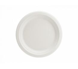 Lėkštutės iš cukranendrių, baltos (6 vnt./17 cm)