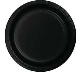 Lėkštutės, juodos (24 vnt./22 cm)