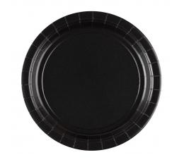 Lėkštutės, juodos (8 vnt./18 cm)