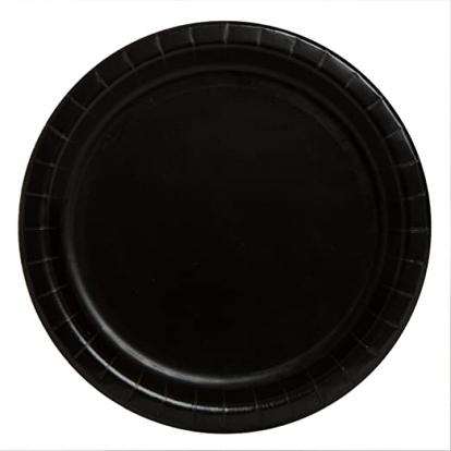 Lėkštutės, juodos (8 vnt./22 cm)