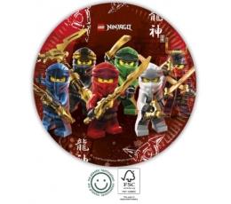 "Lėkštutės ""Lego Ninjago"" (8 vnt./23 cm)"