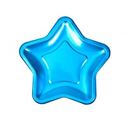 """Lėkštutės """"Mėlyna žvaigždė"""", forminės (8 vnt./18 cm)"""