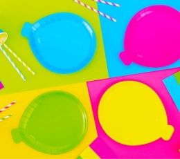 "Lėkštutės ""Neon party"" (8 vnt./20x24 cm) 1"