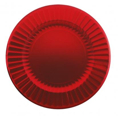 Lėkštutės-padėklai, raudoni žvilgantys (6 vnt./33 cm)